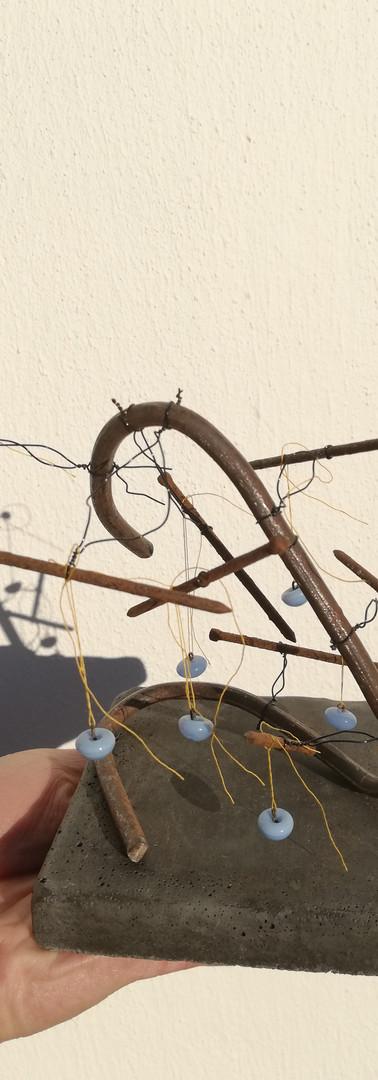 Clous en 3D, boutons céramique 1930,  inspiration Calder