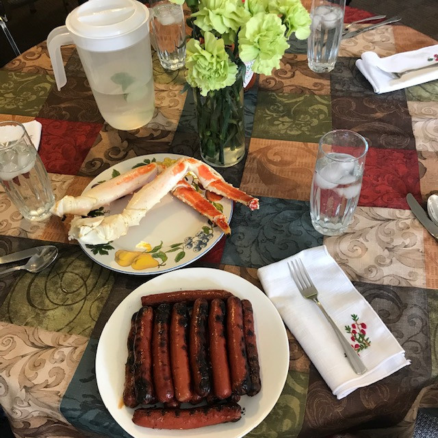 Crab Legs and ... Hot Dogs?