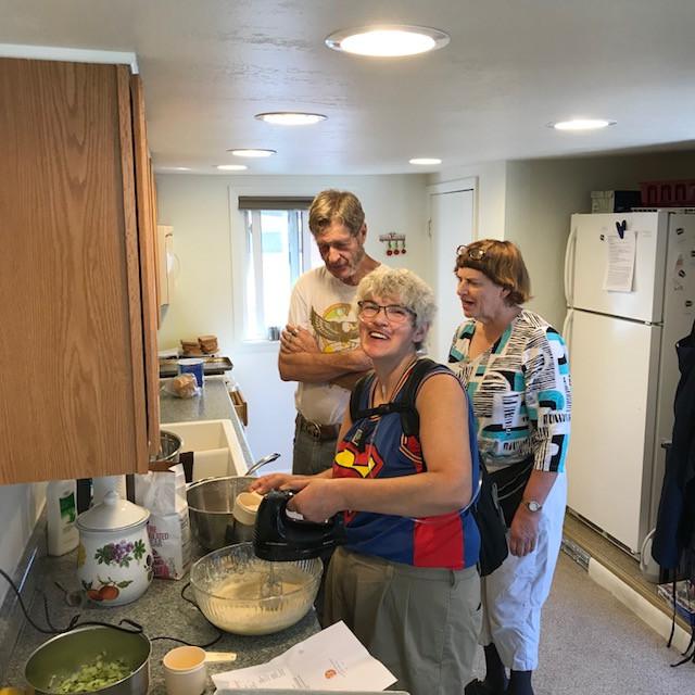 Making Zucchini Bread!