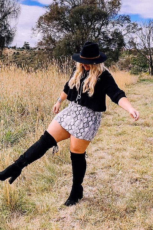 Bri Denim Mini Skirt