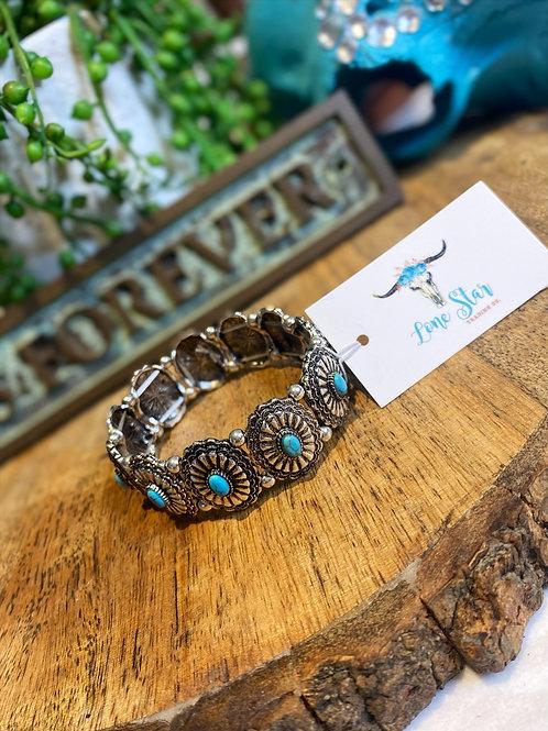 Western Concho Stretch Bracelet