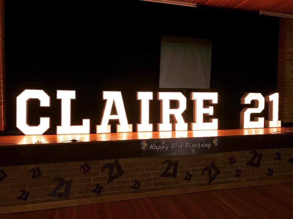 21 Marquee Letter Lights