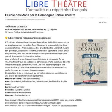 Libre Théâtre - Juillet 2017