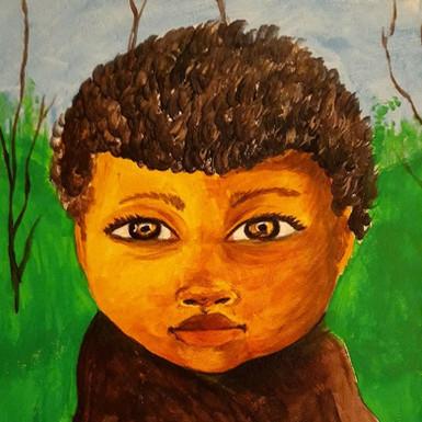 Little Guy  2019 Acrylic on canvas board