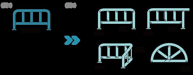 密封構造加工品(欄杆)