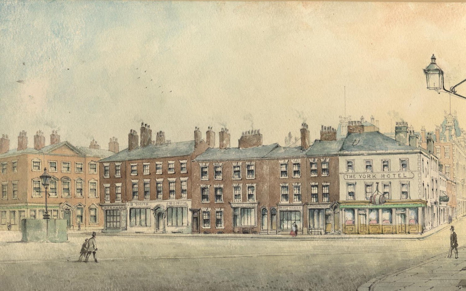 Georgian houses in Williamson Square, Livepool 1868. copy
