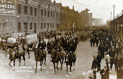 1911 Mounted Police transport strike Livepool