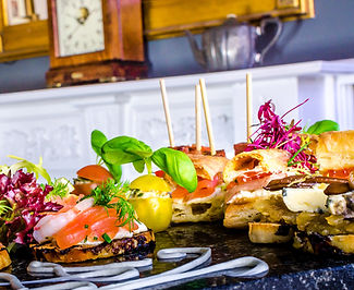 Canape and buffet food at The Monro