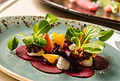 Beetroot and goats cheese starter