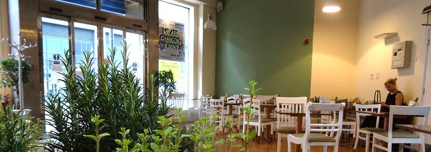 Interior of Lox & Caper cafe