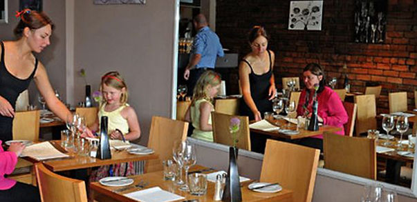Interior of Spire restaurant