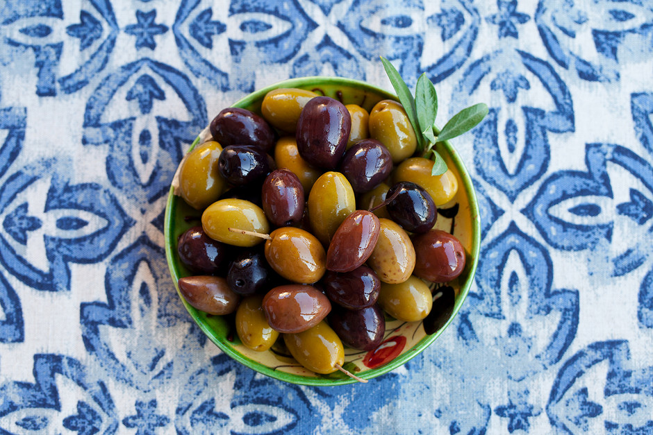 We marinate our olives