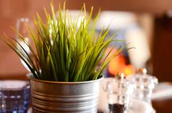 Green grass pots