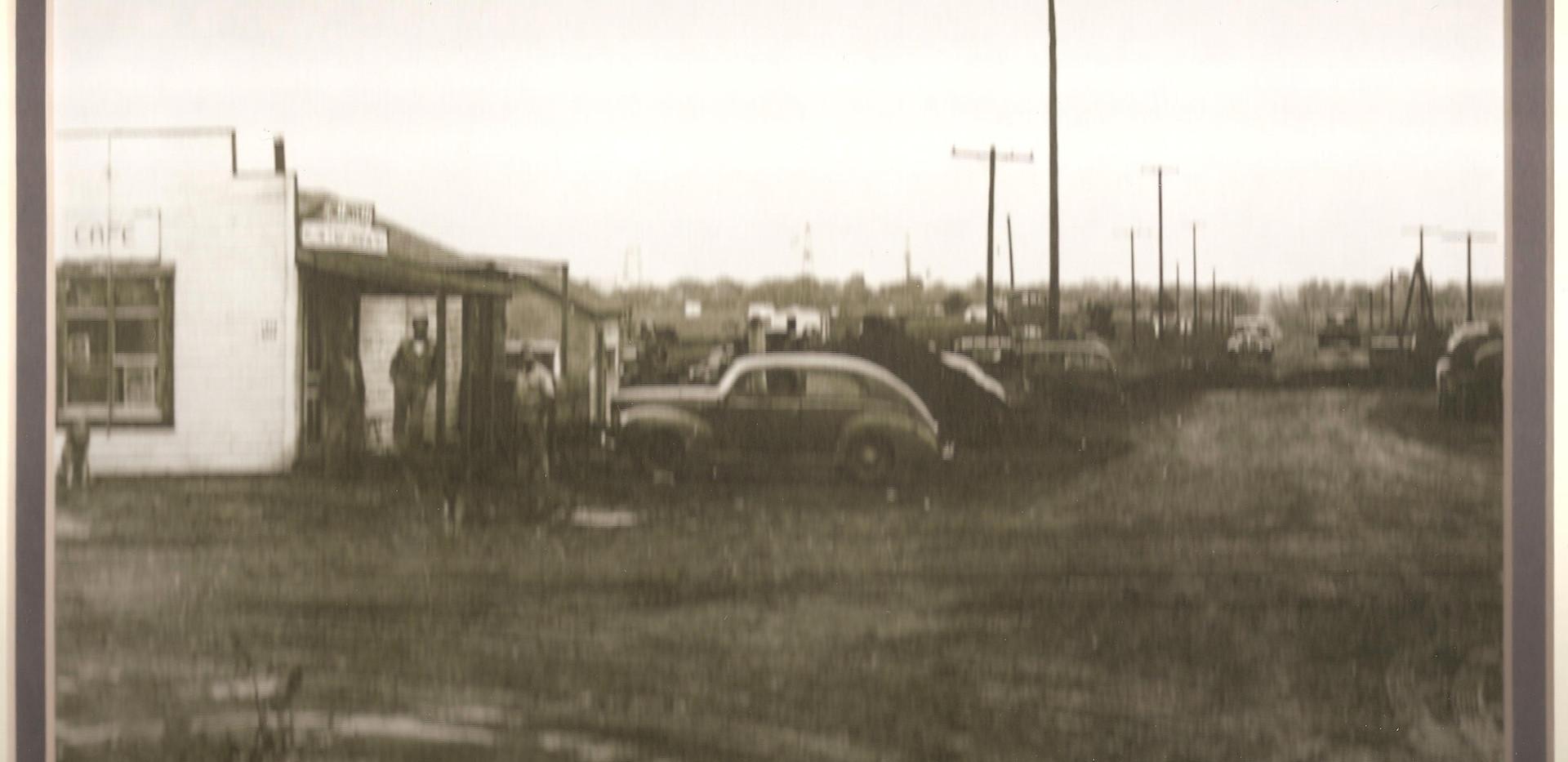 Service station near oil field.