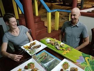 Wanderlust Caribbean - Guest meal in Calibishie