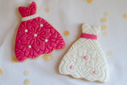 Party Dress Cookies - Pack of 6