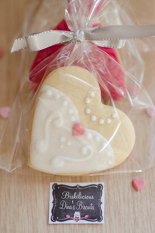 Heart Wedding  Cookies - Pack of 6