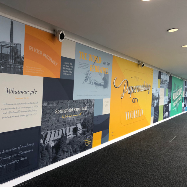 Customised wall art for Maidstone Business Terrace