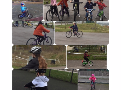 Riding a bike takes balance and coordination.