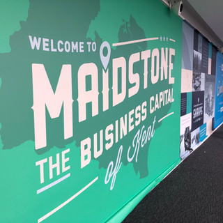 Customised wall graphic for Maidstone Business Terrace