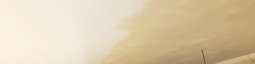 Prémiová bílá barva Dulux - ukázka rozdílu při 1 vrstvě barvy