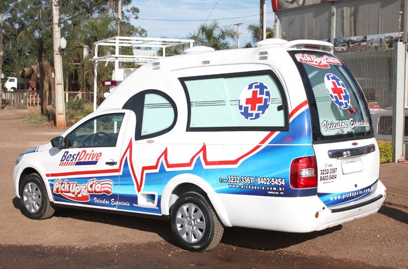 Transformação p/ Saveiro Ambulancia