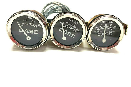 For Case Temperature Oil Pressure Amp Gauge Set VA VAH VAI VAO V VC VI VO 200B