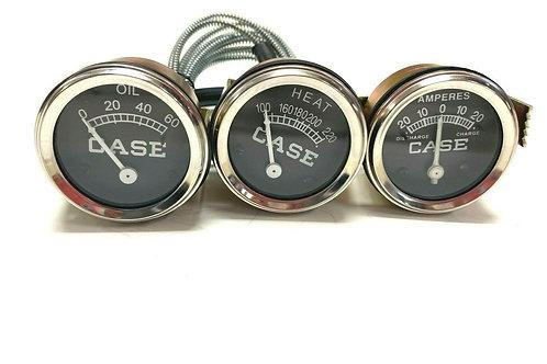 For Case Temperature Oil Pressure Amp Gauge Set VA VAH VAI VAO V VC VI VO 200B