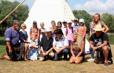 Spende eines Tipis für das Indianer- und Trapperfestival