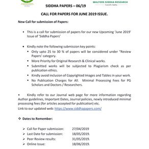 Call for Papers - June 2019 issue.