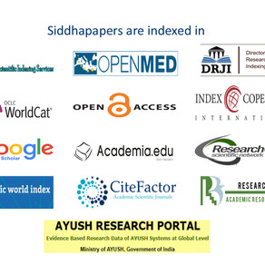 Siddha Papers are indexed in.....