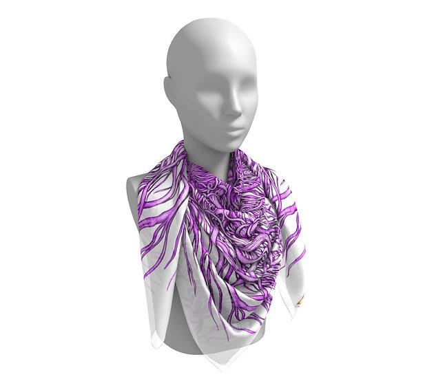 Purple Curls Scarf