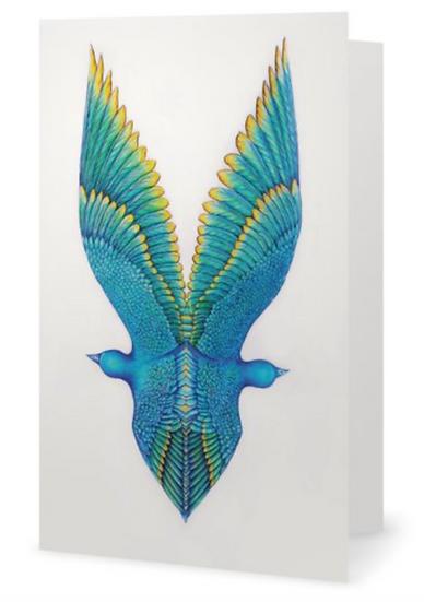 Les Oiseaux bleu en Miroir Gift Card