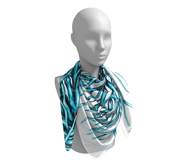 Turquoise Driftwood Scarf
