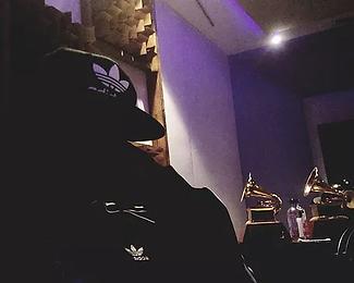 DJ G.O.D. at Red Traxx Mastering Studio.