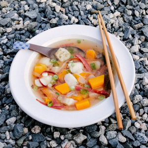 MISO SOUP with SABLEFISH & BUTTERNUT SQUASH