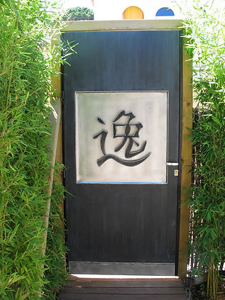 Porte jardin ZINC