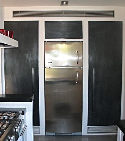 Portes placard cuisine zinc