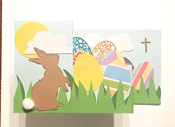 """Easter Bunny and Bright Eggs 5"""" x 7"""""""