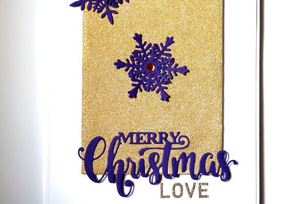 Christmas Love - Purple Snow Flakes