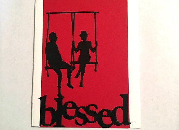 Couple on Swing Blessed Silhouette