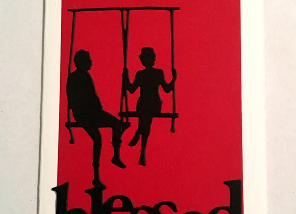 "Couple on Swing Blessed Silhouette  Blank Series, 4.25"" x 5.5"""