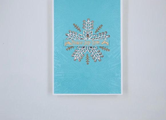 Large Metallic Snow Flake