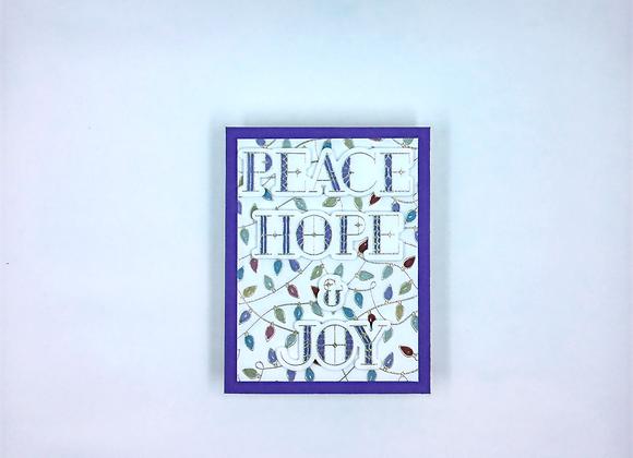 Peace, Hope, & Joy with Christmas Lights