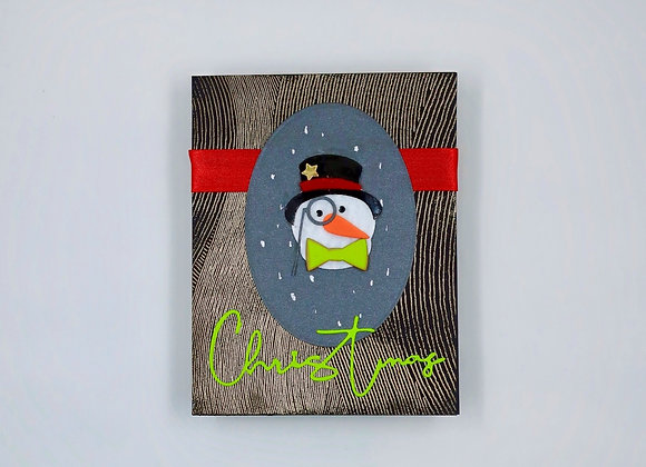 Snowman with Monocle