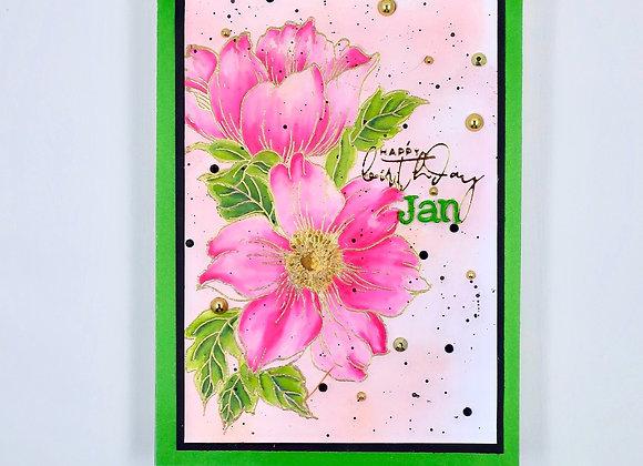Pink & Green Birthday Flowers