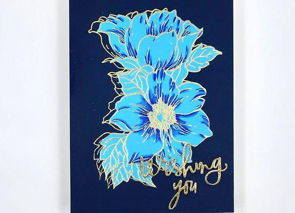 Blue on Blue Double Flowers