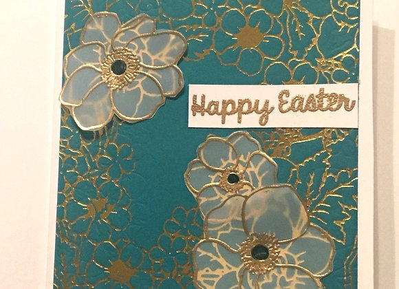 "Vellum Easter Flowers 4.25"" x 5.5"""