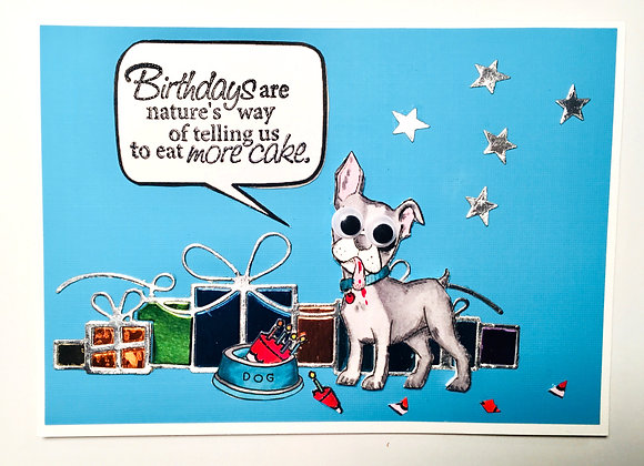 "Did I Do That Canine Birthday Card 5"" x 7"""
