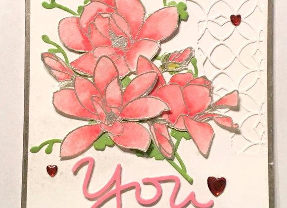 "Pink Magnolias 5"" x 7"""